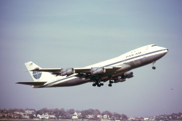 A Pan Am 747 in Boston, 1971