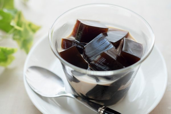 A glass of Japanese coffee jelly