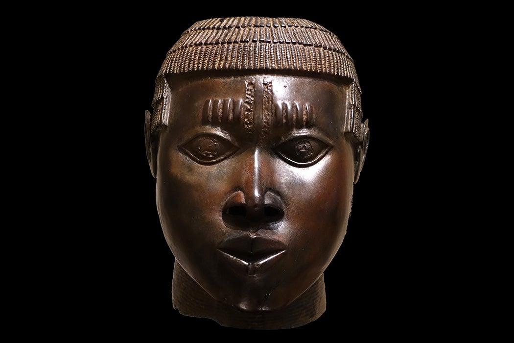 Benin royal shrine head, between 15th century and 16th century