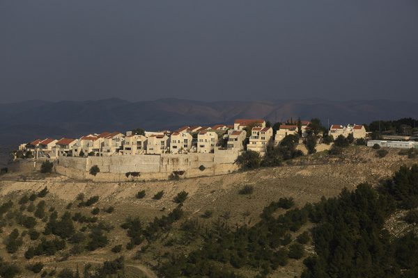 A view of part of the Jewish settlement of Maale Adumim on January 28, 2020 in Maale Adumim, West Bank.