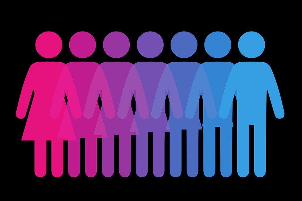 Figures merge female to male