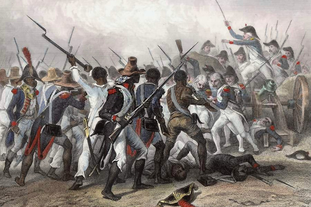 Attack and take of the Crête-à-Pierrot (4 - march 24, 1802). Original illustration by Auguste Raffet
