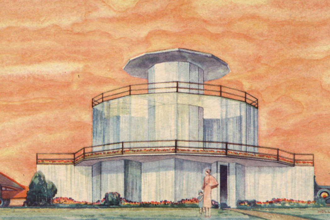 The House of Tomorrow, artist rendering exterior view