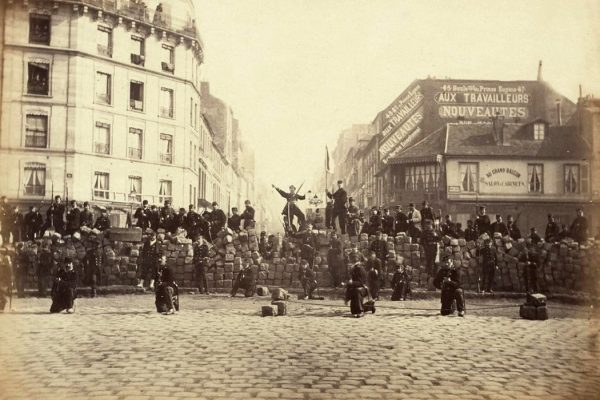 A barricade in the Paris Commune, March 18, 1871