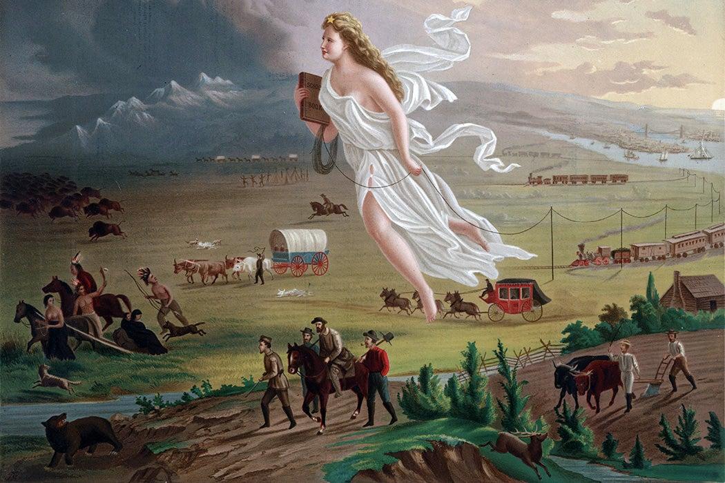 Source: https://commons.wikimedia.org/wiki/File:American_Progress_(John_Gast_painting).jpg