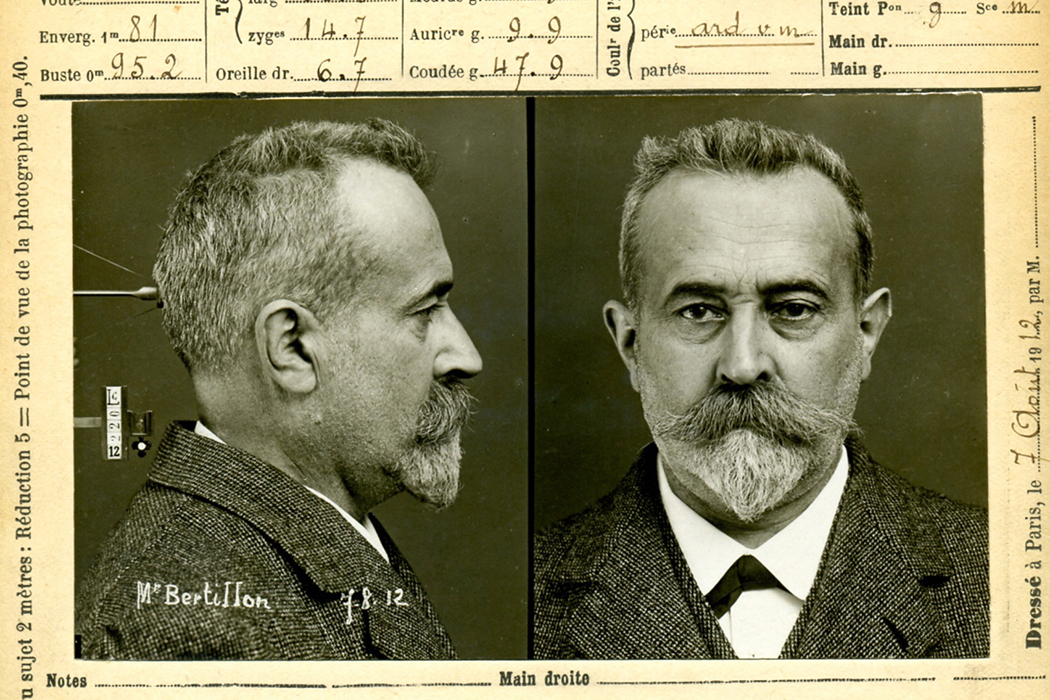 Alphonse Bertillon, first head of the Forensic Identification Service of the Prefecture de Police in Paris (1893).