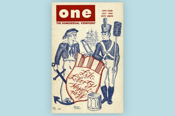 The cover of the July, 1964 issue of ONE Magazine