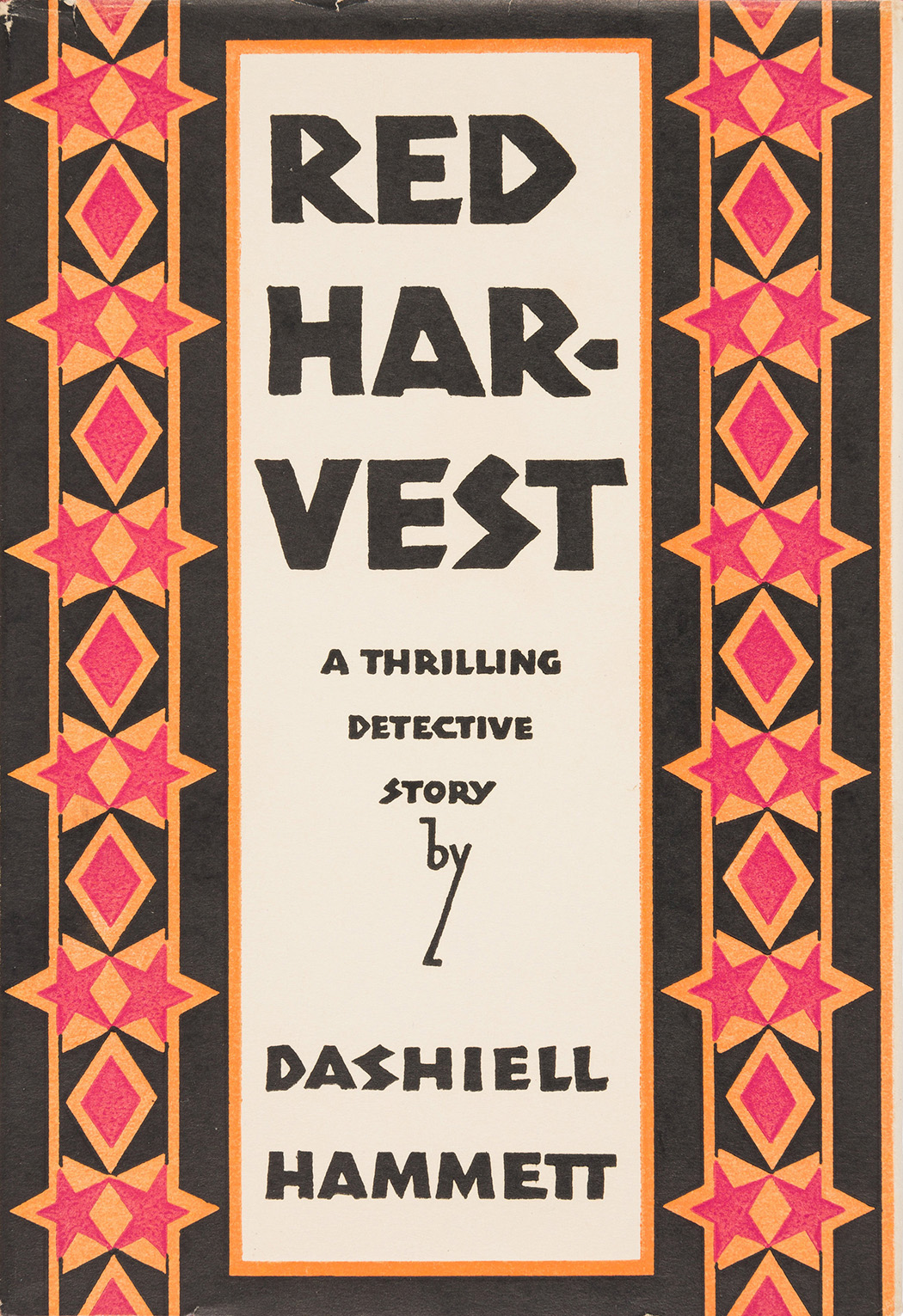 First-edition cover of Dashiell Hammett's first novel, Red Harvest, 1929