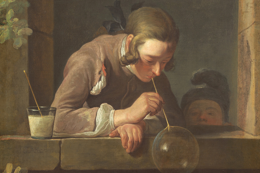 Soap Bubbles by Jean Simeon Chardin, ca.1733