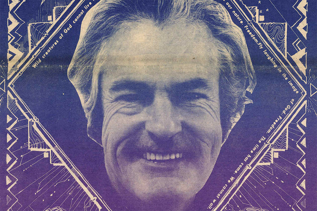 The cover of the September 15, 1970 issue of The East Village Other, featuring Timothy Leary