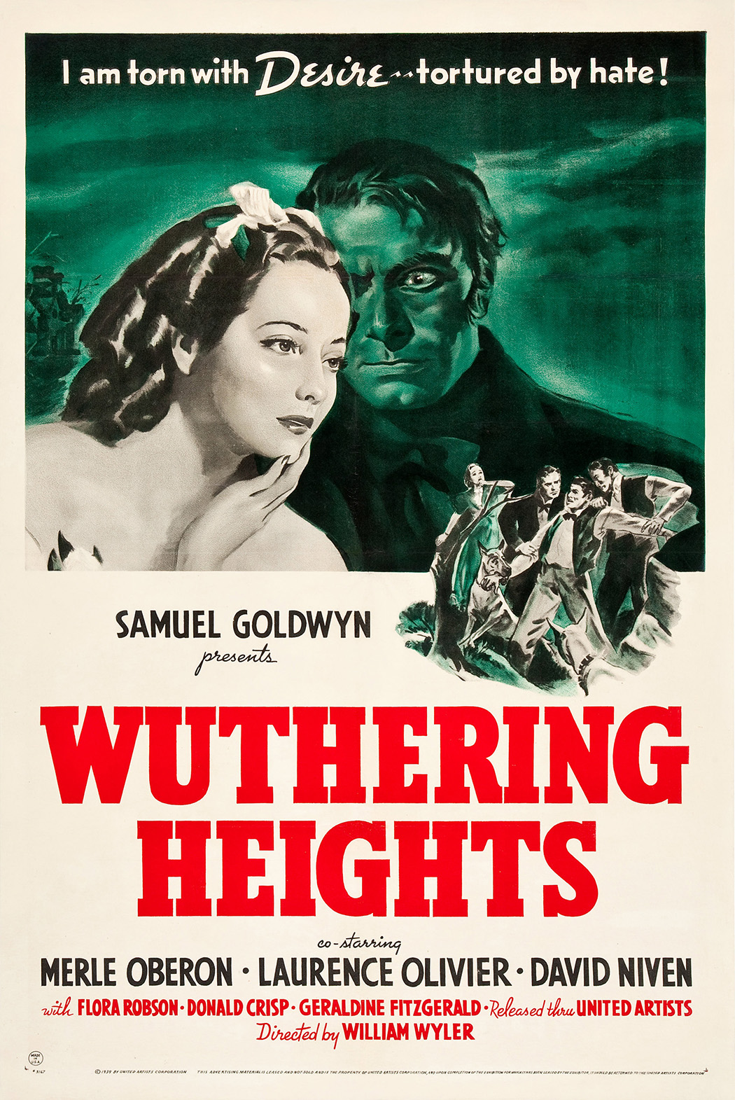 Theatrical poster for the 1939 film Wuthering Heights