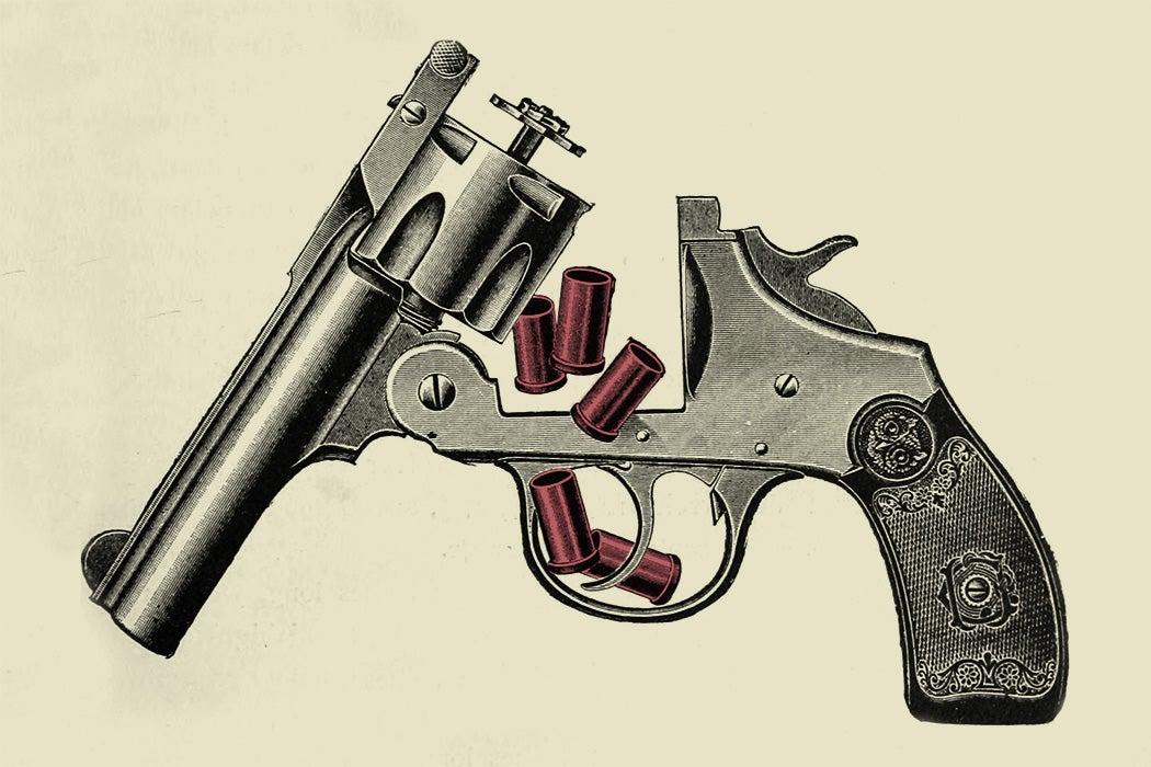 An illustration of a revolver