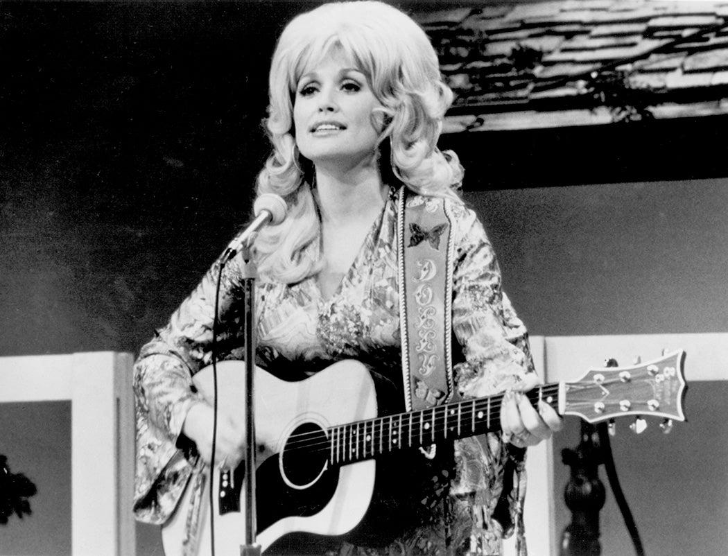 Dolly Parton performs onstage circa 1974