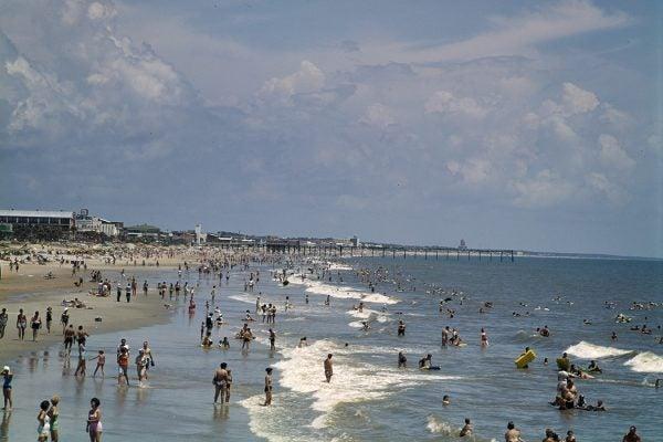 Beachgoers at Myrtle Beach, SC