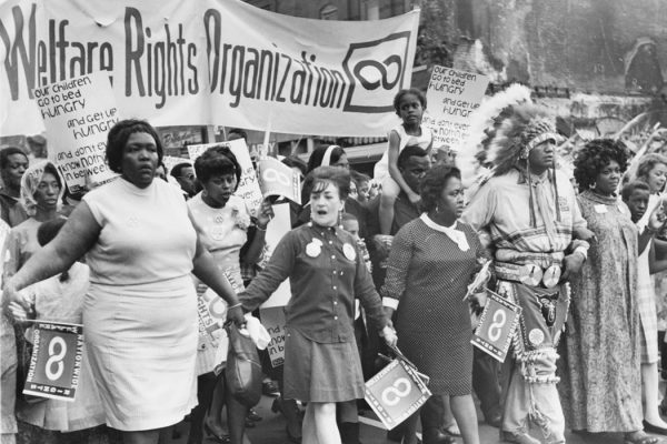 National Welfare Rights Organization activists marching in Washington, DC, May 1968.