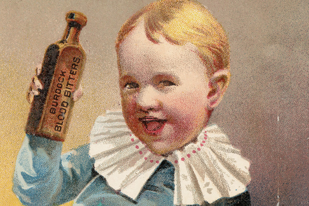 An advertisement for Burdock Blood Bitters