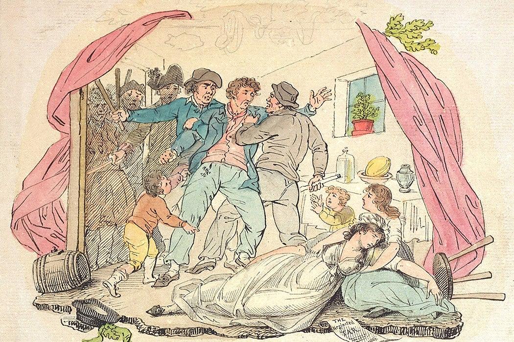 A press gang seizing a seaman
