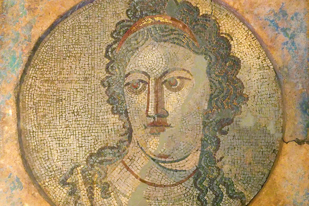 A Mnemosyne mosaic from the second century AD