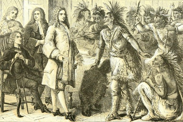 Governor William Burnet of New York meets with the Iroquois in 1721