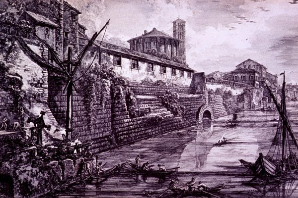 A view of the outlet of the Cloaca Maxima by Giovanni Battista Piranesi, ca. 1776