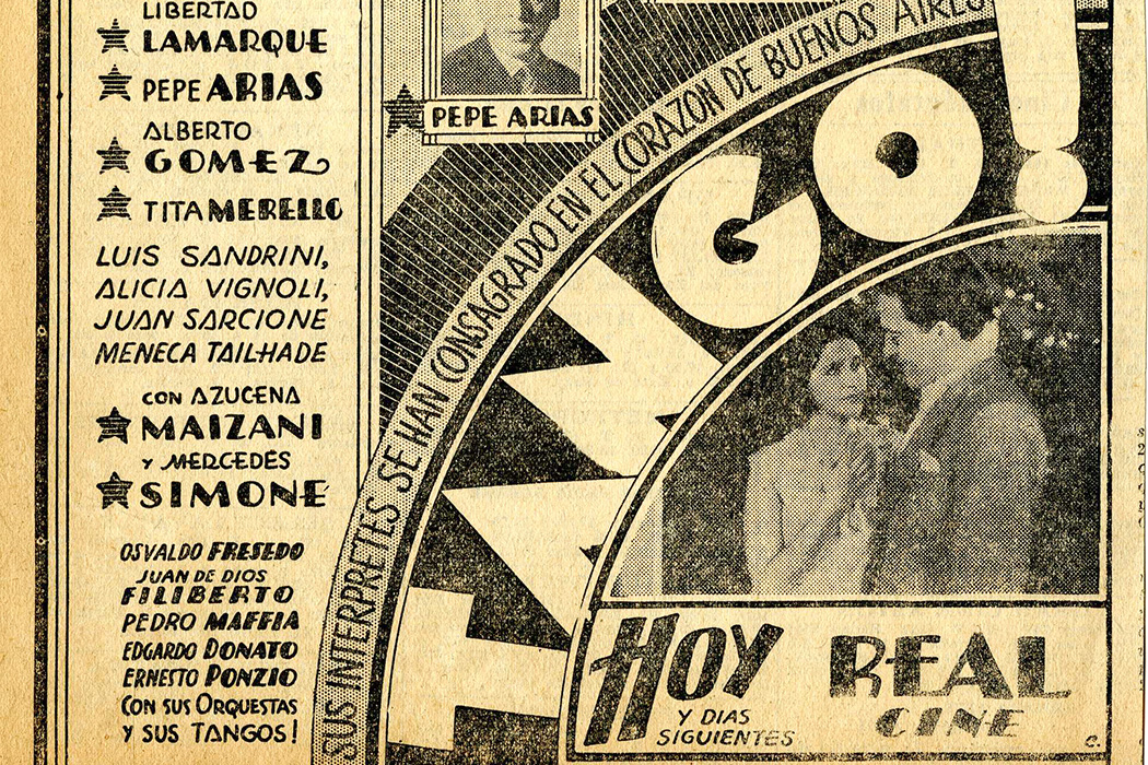 A poster for Tango!, 1933