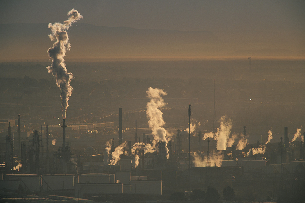 Pollution Rising from Factories in Ciudad Juarez, Mexico