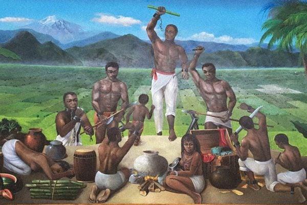 Painting at Museo Regional de Palmillas, Yanga Veracruz