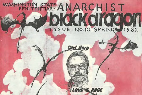 The cover of issue #10 of Anarchist Black Dragon, Spring 1982