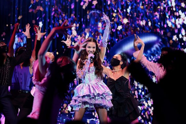 Olivia Rodrigo performs onstage during the 2021 MTV Video Music Awards at Barclays Center on September 12, 2021