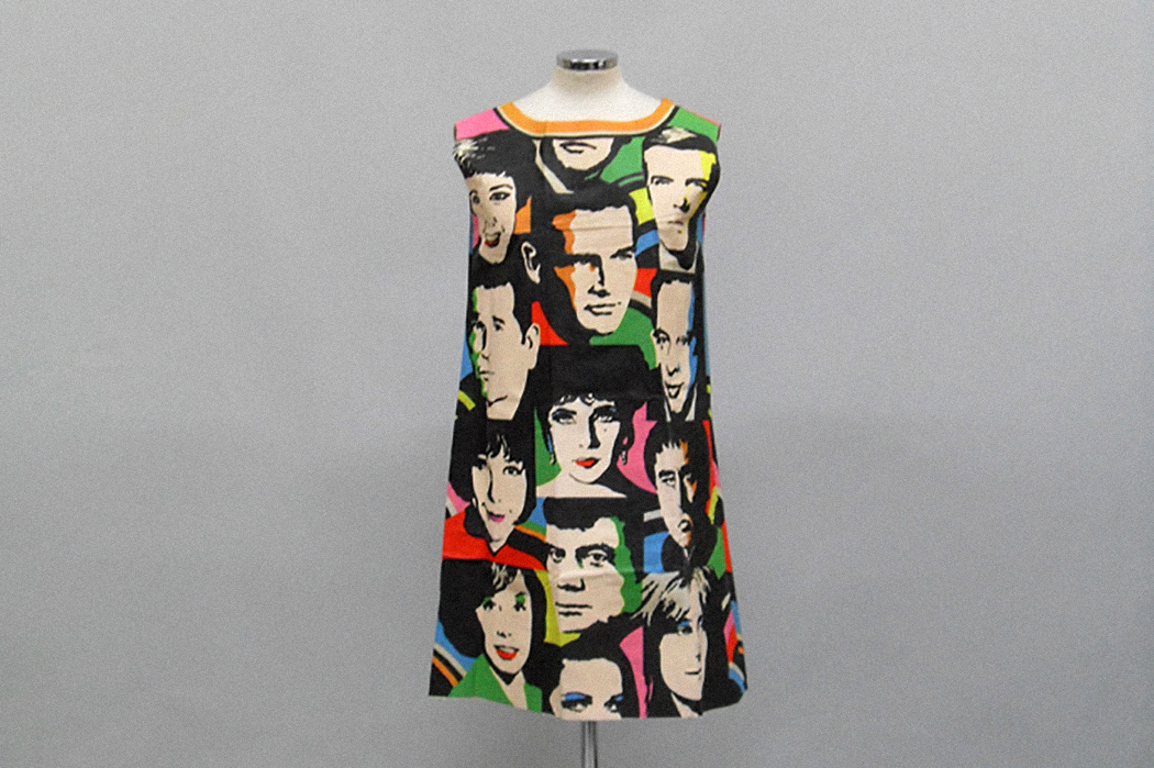 """""""The Big Ones of '68"""" a paper dress by Universal Studios, 1968"""