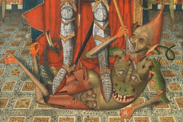A demon beneath the foot of St. Michael